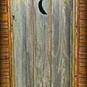 Outhouse Door Art Print
