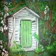 Outhouse Greenery Art Print