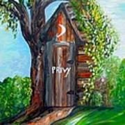 Outhouse - Privy - The Old Out House Art Print