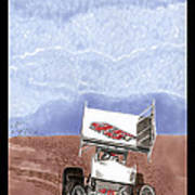 Outlaw Race Car Art Print