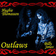 Outlaws Billy Jones And Hughie Thomasson Art Print
