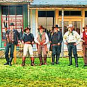 Outlaws Or Lawmen Art Print