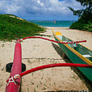 Outrigger Beach Art Print