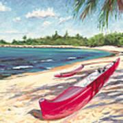 Outrigger - Haleiwa Art Print