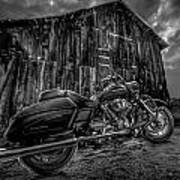 Outside The Barn Bw Art Print