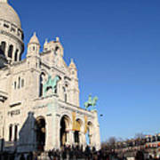 Outside The Basilica Of The Sacred Heart Of Paris - Sacre Coeur - Paris France - 01136 Art Print by DC Photographer
