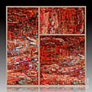 Outside The Box - Abstract Art Art Print