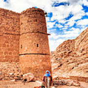 Outside The Walls Of Historic Saint Catherine's Monastery - Egypt Print by Mark E Tisdale