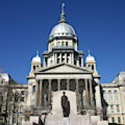 Outside view of the Illinois State Capitol Building Art Print