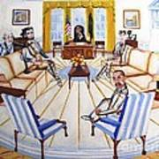 Oval Office Ghost With President Obama  Art Print