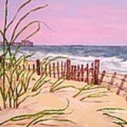Over The Dunes To The Garden City Pier  Art Print