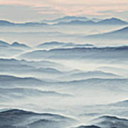 Over The Misty Mountains Art Print
