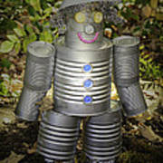 Over The Rainbow Garden Tin Man Art Print