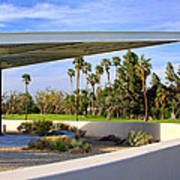 Overhang Palm Springs Tram Station Art Print by William Dey
