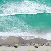 Overhead Wide Angle Of The Beach Art Print