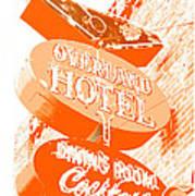 Overland Hotel Art Print
