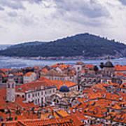 Overlooking Dubrovnik Art Print