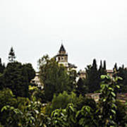 Overlooking The Alhambra On A Rainy Day - Granada - Spain Art Print