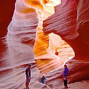 Overwhelmed In Lower Antelope Canyon-az Art Print