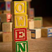 Owen - Alphabet Blocks Art Print