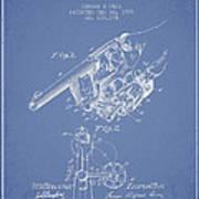 Owen Revolver Patent Drawing From 1899- Light Blue Art Print