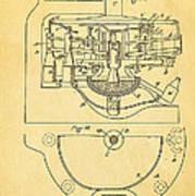 Owens Glass Shaping Machine Patent Art 3 1904 Art Print