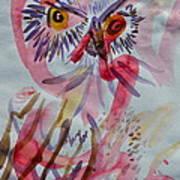 Owl In The Fresh Air Art Print