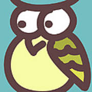 owl Art Print by Nursery Art