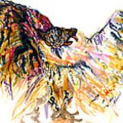 Owl Power Art Print