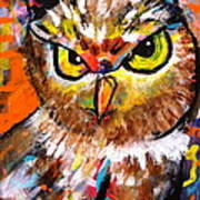 Owl With An Attitude Art Print