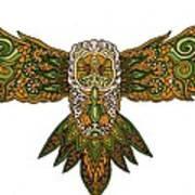 Owl Yellow Art Print