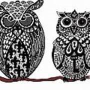 Owls 10 Art Print