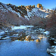 Owyhee River Reflection Desert Light Art Print