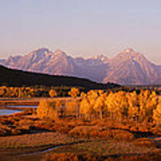 Oxbow Bend Grand Teton National Park Wy Art Print