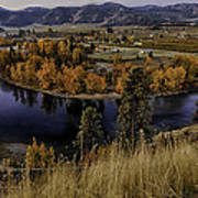 Oxbow Bend In The Wenatchee River Art Print