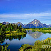 Oxbow Bend Art Print by Robert Bales