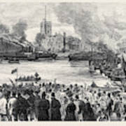 Oxford And Cambridge Universities Boat Race The Start Art Print