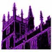 Oxford England 1986 Purple Spirals Art1 Jgibney The Museum Gifts Art Print