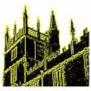 Oxford England 1986 Yellow Spirals Art1 Jgibney The Museum Gifts Art Print