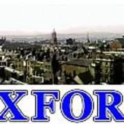 Oxford Snapshot Panorama Rooftops 2 Jgibney The Museum Zazzle Gifts Art Print