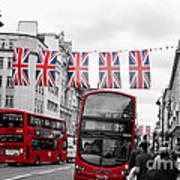 Oxford Street Flags Art Print