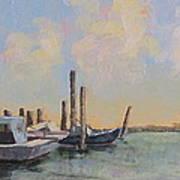 Oyster Boat Evening Art Print