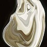 Oyster Shell No 3 Art Print by Chad Miller