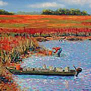 Oystermen At Folly Beach Art Print