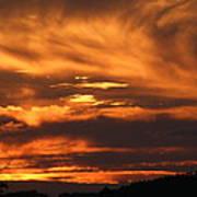 Ozark Sunset Art Print by Edward Hamilton