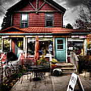 Ozzie's Coffee Bar - Old Forge Ny Art Print