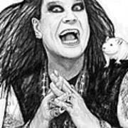 Ozzy Osbourne Art Drawing Sketch Portrait Art Print