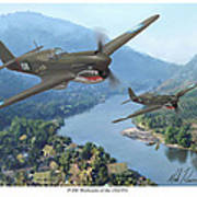 P-40 Warhawks Of The 23rd Fg Art Print