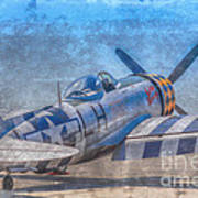 P-47 Thunderbolt Airplane Wwii Airfield Art Print