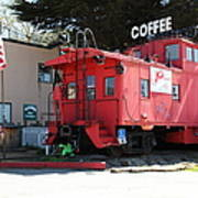 P Town Cafe Caboose Pacifica California 5d22659 Art Print by Wingsdomain Art and Photography